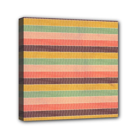 Abstract Vintage Lines Background Pattern Mini Canvas 6  X 6
