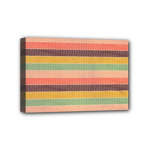 Abstract Vintage Lines Background Pattern Mini Canvas 6  X 4