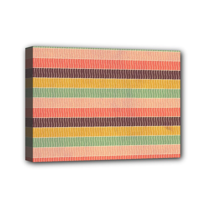 Abstract Vintage Lines Background Pattern Mini Canvas 7  x 5