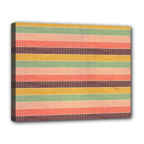 Abstract Vintage Lines Background Pattern Canvas 14  X 11