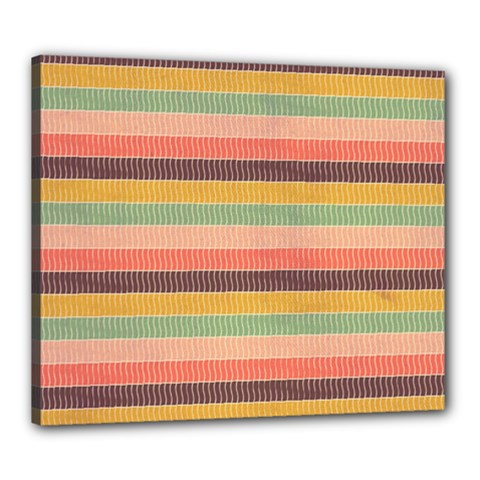 Abstract Vintage Lines Background Pattern Canvas 24  x 20