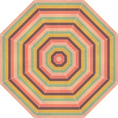 Abstract Vintage Lines Background Pattern Folding Umbrellas