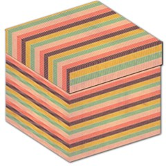 Abstract Vintage Lines Background Pattern Storage Stool 12