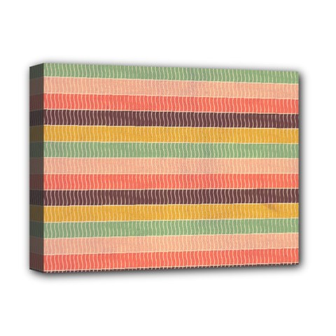 Abstract Vintage Lines Background Pattern Deluxe Canvas 16  X 12