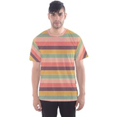 Abstract Vintage Lines Background Pattern Men s Sport Mesh Tee