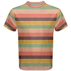 Abstract Vintage Lines Background Pattern Men s Cotton Tee