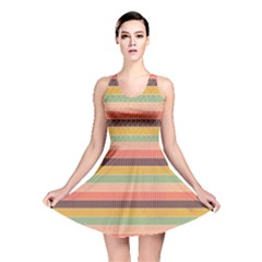 Abstract Vintage Lines Background Pattern Reversible Skater Dress