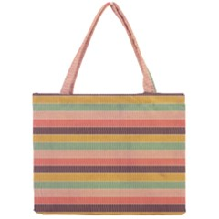 Abstract Vintage Lines Background Pattern Mini Tote Bag