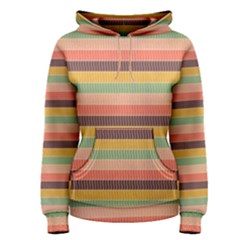 Abstract Vintage Lines Background Pattern Women s Pullover Hoodie