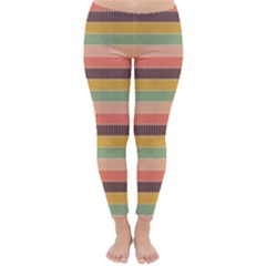 Abstract Vintage Lines Background Pattern Classic Winter Leggings
