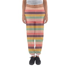 Abstract Vintage Lines Background Pattern Women s Jogger Sweatpants