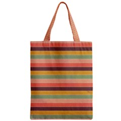 Abstract Vintage Lines Background Pattern Zipper Classic Tote Bag