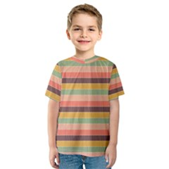 Abstract Vintage Lines Background Pattern Kids  Sport Mesh Tee