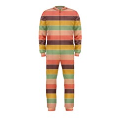 Abstract Vintage Lines Background Pattern OnePiece Jumpsuit (Kids)