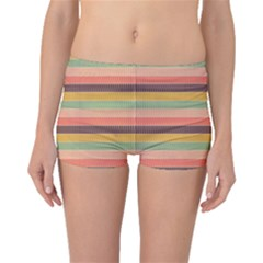 Abstract Vintage Lines Background Pattern Boyleg Bikini Bottoms