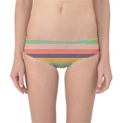 Abstract Vintage Lines Background Pattern Classic Bikini Bottoms