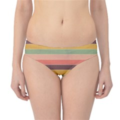Abstract Vintage Lines Background Pattern Hipster Bikini Bottoms