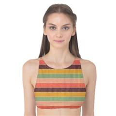 Abstract Vintage Lines Background Pattern Tank Bikini Top