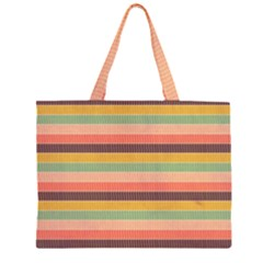 Abstract Vintage Lines Background Pattern Large Tote Bag