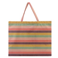 Abstract Vintage Lines Background Pattern Zipper Large Tote Bag