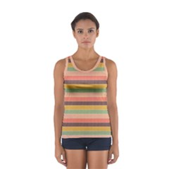 Abstract Vintage Lines Background Pattern Women s Sport Tank Top