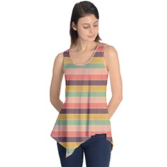 Abstract Vintage Lines Background Pattern Sleeveless Tunic