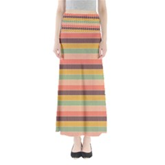 Abstract Vintage Lines Background Pattern Maxi Skirts