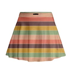 Abstract Vintage Lines Background Pattern Mini Flare Skirt