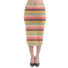Abstract Vintage Lines Background Pattern Midi Pencil Skirt
