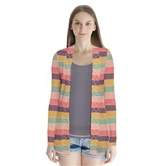 Abstract Vintage Lines Background Pattern Cardigans