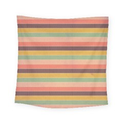 Abstract Vintage Lines Background Pattern Square Tapestry (small)