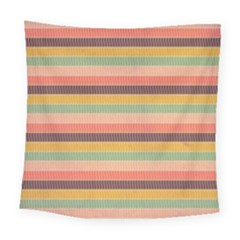 Abstract Vintage Lines Background Pattern Square Tapestry (large)