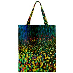 Construction Paper Iridescent Zipper Classic Tote Bag