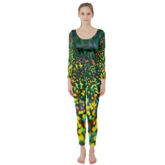 Construction Paper Iridescent Long Sleeve Catsuit