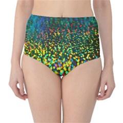 Construction Paper Iridescent High Waist Bikini Bottoms