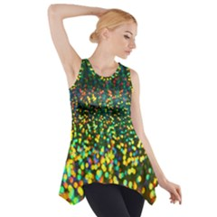 Construction Paper Iridescent Side Drop Tank Tunic