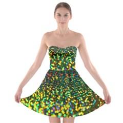 Construction Paper Iridescent Strapless Bra Top Dress