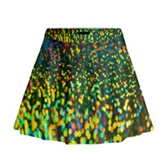 Construction Paper Iridescent Mini Flare Skirt