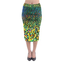 Construction Paper Iridescent Midi Pencil Skirt