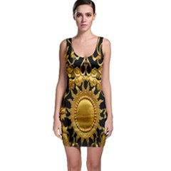 Golden Sun Sleeveless Bodycon Dress