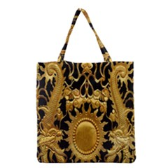 Golden Sun Grocery Tote Bag