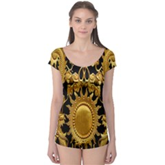 Golden Sun Boyleg Leotard