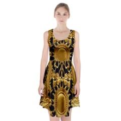 Golden Sun Racerback Midi Dress