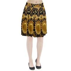 Golden Sun Pleated Skirt