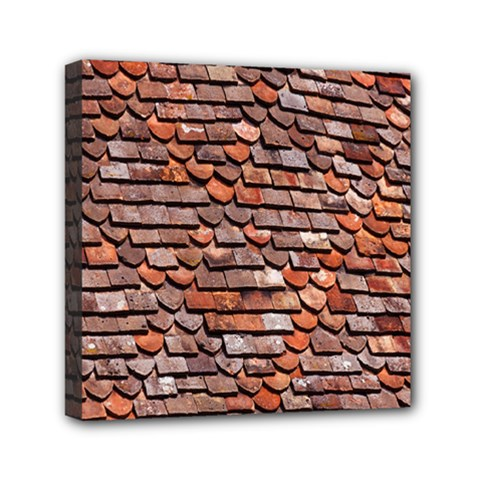 Roof Tiles On A Country House Mini Canvas 6  X 6