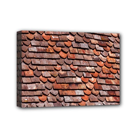 Roof Tiles On A Country House Mini Canvas 7  x 5