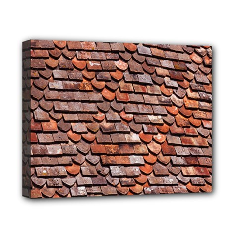 Roof Tiles On A Country House Canvas 10  x 8