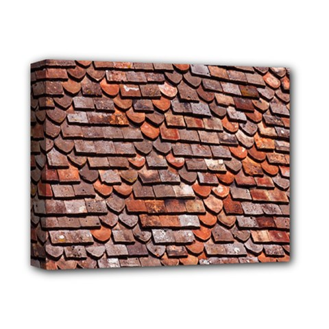 Roof Tiles On A Country House Deluxe Canvas 14  x 11