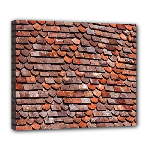 Roof Tiles On A Country House Deluxe Canvas 24  X 20