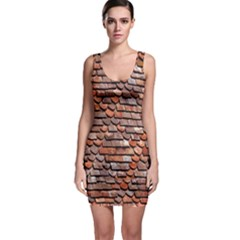 Roof Tiles On A Country House Sleeveless Bodycon Dress